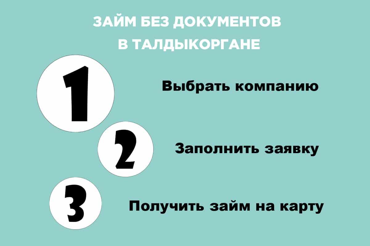 Займ в Талдыкоргане